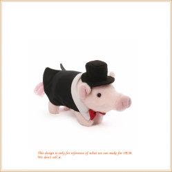 黒い子供のためのスーツによって詰められるおもちゃの美しいプラシ天のブタ卸しで