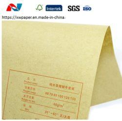 Gerecycleerde Houtpulp en de Niet beklede Broodjes van het Document van Kraftpapier voor de Zakken van het Document van de Kruidenierswinkel