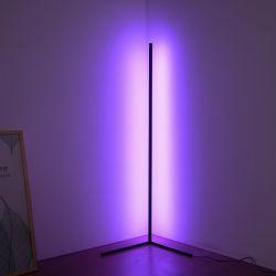 최소 램프 Dimmable LED 코너 지면 RGB 램프를 서 있는 현대 간단한 최소한 알루미늄 침실 변화 색깔