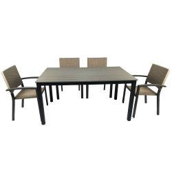 Un patio delle 7 parti che pranza la famiglia esterna stabilita del giardino di Polywood unisce la mobilia del rattan