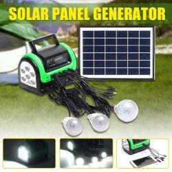 Beleuchtungssystem-Installationssatz des Sonnenkollektor-Energien-Generator-LED mit MP3 Radio, globale Sonnenaufgang-Lichter