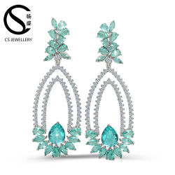Dernier modèle Fashion lustre de zircon Earrings cuivre en laiton Earring Conclusions