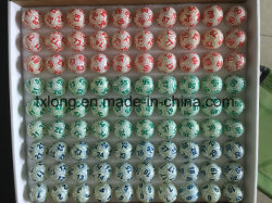 Zelluloid-Tischtennis-multi Farbe mit 6 Seiten oder 12 Seiten, die Lotterie-BingoKenoRafflelotto-Kugeln beschichten