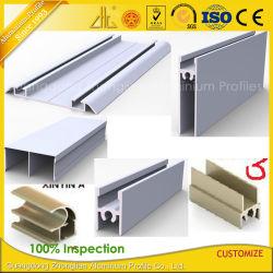 6063 Marcos de aluminio anodizado para sistema de puertas correderas armario