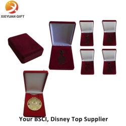 Medal 用のカスタムベルベットとウッドボックス