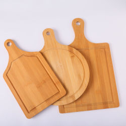 손 피자 베이킹과 함께 하는 맞춤 로고 대나무 피자 보드 트레이 피자 스시 커팅보드 플래터 피자 케이크 베이커웨어 도구