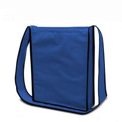 非編まれたショルダー・バッグは、卸売のロゴ再使用可能で環境に優しい携帯用耐久の再生利用できるPP Spunbond文書のショッピングギフトのCrossbodyの吊り鎖袋をカスタマイズする
