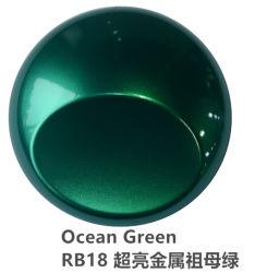 O PVC a mudança de cor verde esmeralda Carro Película de Vinil da cintagem por rede