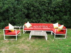 현대 다채로운 옥외 정원 가구 알루미늄 여가 의자 안뜰 소파 세트