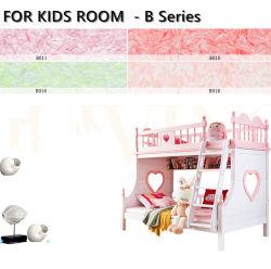 Revestimiento artístico del arco iris de fibra de algodón natural Papel tapiz de líquido para niños