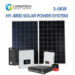 inverter per stoccaggio batterie fv collegato alla rete da 1 kw 2.5 kW 3 kw Sistema di piastre solari di potenza