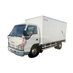 Isuzu de buena calidad 100p de 4 toneladas de acero de 5 toneladas de la placa de Cartón Ondulado van de verificación de precios de camión de carga