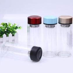 Prêt à expédier en stock Expédition rapide écologique Articles ménagers double couche de verre de thé parfumé Fiter bouteille d'eau potable de verre