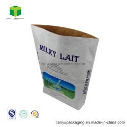 La preuve d'humidité personnalisée 5kg 10kg 25kg de nourriture de qualité du papier kraft à fond plat de lait en poudre Sead Sac de farine Multiwall sac de papier avec film PE