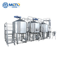 Caldaia di Brew fornita fabbricazione 1000L della strumentazione di preparazione della birra con il rivestimento del vapore
