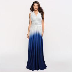 패션 그레이디언트 A-Line 드레스는 섹시한 긴 브리드메이드 드레스이다