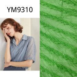 Ym9310 Green briller fleur à couper le tissu de polyester pour robe en mousseline