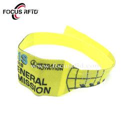 La RFID passive Hf I Code Sli Bracelets tissés jetables pour Ticket