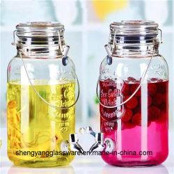 Heißer Saft-Glasgetränk-Zufuhr des Verkaufs-3.5L mit Hahn