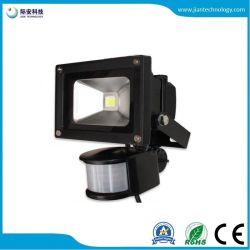 10W IP65 85-265V PIR Bewegungs-Fühler mit Flutlicht des IR-Controller-LED