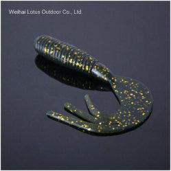 Un matériau spécial soft ver Leurre souple queue unique du matériel de pêche