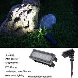 CE, indicatore luminoso sotterraneo di RGB LED del giardino di RoHS IP65