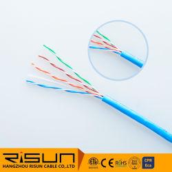 Ethernet grueso Conductor sólido cable UTP Cat5e el cable de red