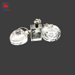 Design personnalisé trousseau de cristal de lumière à LED