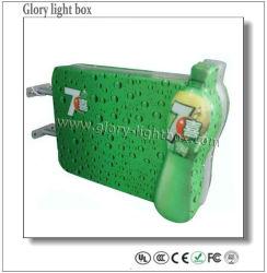 Montado na parede 3D Cerveja Acyrlic Sucção Caixa de Luz