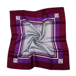 Romantische Purpere Zuivere Zijde en Polyester Afgedrukt Dame Scarf Square Satin Twill (ls-35)