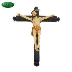 L'artisanat Polyresin crucifixion de Jésus Crucifix mural