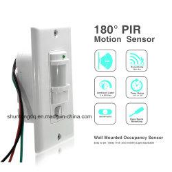 110V ~220V AC de parede automático ligado/desligado do interruptor do sensor de movimento PIR automática do sensor de infravermelhos do Interruptor de Luz com Sensor de Controle da Luz