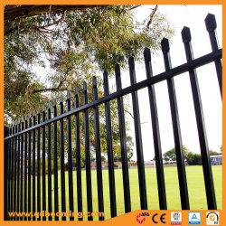 Revêtement poudré noir jardin en métal de garnison Clôture