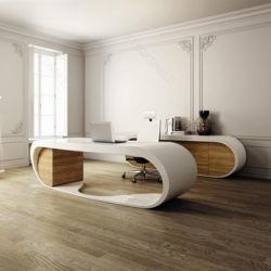 Commerical Corian Schreibtisch-weißer moderner Büro-Steintisch
