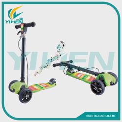 音楽およびライトが付いている新しく物質的な子供3の車輪のスクーター