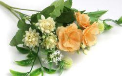 Boda europeo simulado decorativos de color champán FLORES ARTIFICIALES flores de plástico