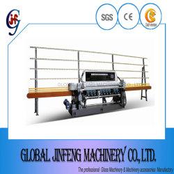 10 Machine van de Verwerking van Beveling van de Rechte Lijn van het Glas van assen de Scherpende Malende (JFB361)