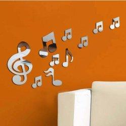 La musique romantique Remarque Crystal Reflective DIY effet miroir Stickers muraux 3D