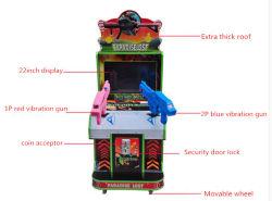 El movimiento de la moneda Opearted atractivo en el interior de la Realidad Virtual de la máquina Arcade