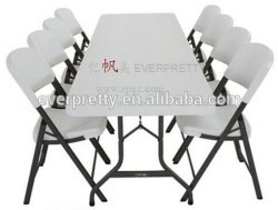 의자 세트를 가진 플라스틱 옥외 접의자