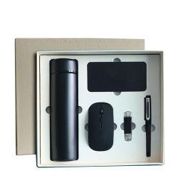 Draadloze Muis Set Usb Flash Drive Vacuum Cup Pen Custom Corporate Promotie Gift