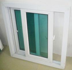 Impacto do furacão Panamá Water-Tight Série 88/Sound-Proof/Heat-Insulate Vidro corrediço de PVC com vidro colorido