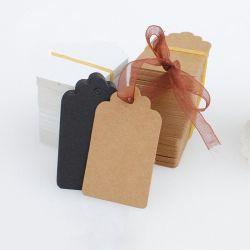 Weihnachtsbaum-Dekoration DIY unbelegtes Kraftpapier Weihnachten100pcs/lot beschriftet Marken