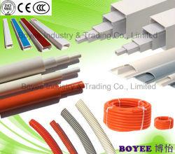 Weißes elektrisches Rohr Verkabelungs-Leitung/Kurbelgehäuse-Belüftung elektrisches des Trunking-/Kurbelgehäuse-Belüftung/quadratisches Belüftung-Rohr
