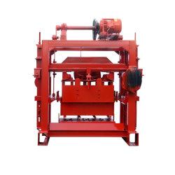 기계를 만드는 맞물리는 포장 단단한 연석 구렁 벽돌 구획을%s 적당한 공장 가격 Qtj4-40 반 자동적인 모래 돌 시멘트