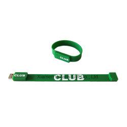 Настраиваемые бизнес-Клуба USB Flash Drive Silicon браслет