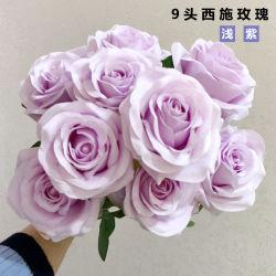 9 cabeça de motor falso Artificial Rose Seda casamento festa Suite bouquet de flores decoração doméstica