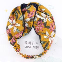 نساء شعب مجوهرات طبلة خاصّ بالأزهار قماش رأس لفاف عقدة ميل بحري [هيربند]