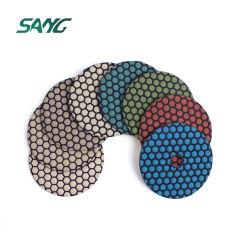 Secar el piso de granito pulido de diamantes de pastillas para la amoladora angular