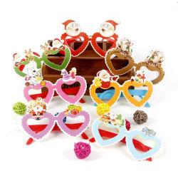 12PCS/Lot 크리스마스는 서류상 유리 프레임 장식 저녁 당 장난감 아이 토끼 선물을 장식한다